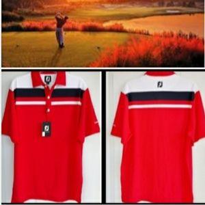 FJ 🆕️ Men's Short-Sleeved Orange Golf Polo Sz. M